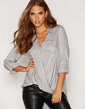 New Look F Wrap Front Casual Shirt