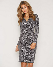 Michael Kors Black Panther LS Wrap Dress