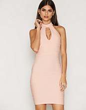Miss Selfridge Blush Halter Bandage Dress