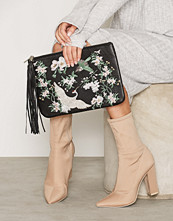 Miss Selfridge Embroided Clutch