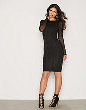 Wow Couture L/S Bodycon Mesh Dress