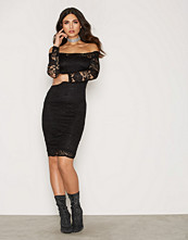 Ax Paris Lace Bardot Midi Dress