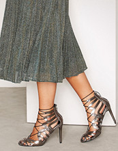 Miss Selfridge Metallic CIRCUS Caged Ghillie Sandals