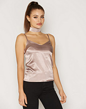 NLY One Choker Cami Satin Top