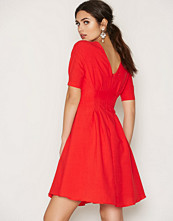 Little Mistress Red Red Fit And Flare Midi Dress