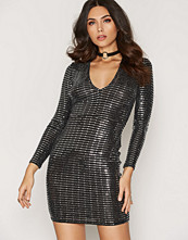 NLY One Plunge Metallic Dress