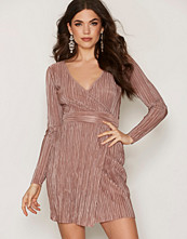 NLY One Plisse Wrap Dress