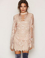 Free People Ivory Deco Lace Mini Dress