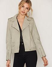 Calvin Klein Vapor Blue Meadowy Leather Jacket