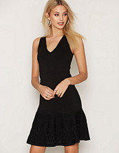 Michael Kors Black Lace Fit Flare Dress
