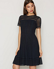 Michael Kors Navy Eyelet Mix S/S Dress