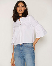 New Look White Bell Sleeve Shirt