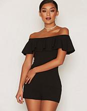 New Look Frill Trim Bardot Playsuit