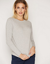 Gant Light Grey Melange Cotton Pique Crew