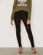 Miss Selfridge Lizzie Distressed Black Skinny Jeans