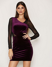 Miss Selfridge Asymmetric Velour Dress