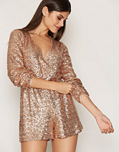 Miss Selfridge Gold Sequin Playsuit