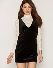 Miss Selfridge Velvet and Lace Shift Dress