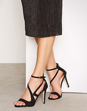 Miss Selfridge Black Barely There Sandals