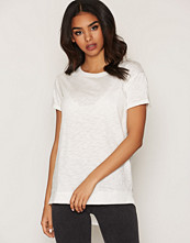 Miss Selfridge White Woven Mix T-Shirt