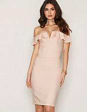 Miss Selfridge Ruffle Bandeau Midi Dress