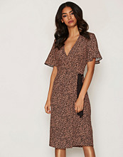 Miss Selfridge Print Wrap Midi Dress
