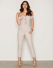 Miss Selfridge Ruffle Bardot Jumpsuit
