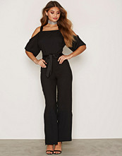 Miss Selfridge Wide Leg Cold Shoulder Jumpsuit