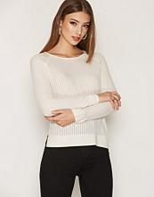 Only Hvit onlROSE Rib L/S Pullover Knt Noos