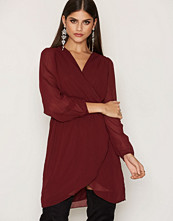 Ax Paris Plain Chiffon Wrap Dress