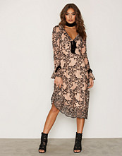 For Love & Lemons Tiramisu Clemence Midi Dress