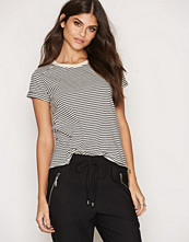 American Vintage Round Collar Striped Tee