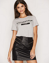 New Look Leather-Look Triple Zip Front A-Line Skirt