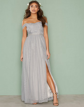 Little Mistress Water Lily Jewel Waist Maxi Dress