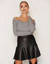 Miss Selfridge Peplum PU Skirt