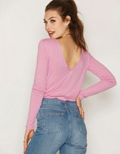 NLY Trend Simple V Drop Back Top