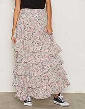 Glamorous Grey Floral Maxi Skirt
