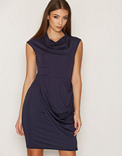 Closet Navy Round Neck Drape Skirt Dress