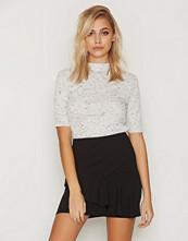 New Look Black Scuba Frill Trim Mini Skirt