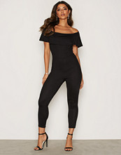NLY One Svart Frill Jumpsuit