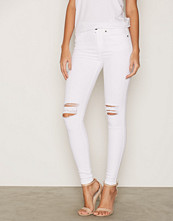 Dr.Denim White Lexy Black Ripped Knees