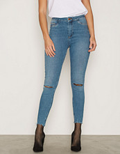 New Look Ripped Knee High Waist Skinny Jeans