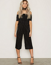 New Look Plisse Bardot Layered Jumpsuit