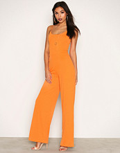 NLY Trend Orange Strappy Jumpsuit