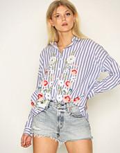 Miss Selfridge Multi Embroidered Stripe Split Shirt