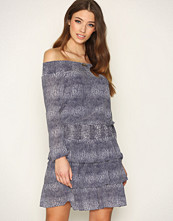 Michael Kors Navy Zephyr Reptile Dress