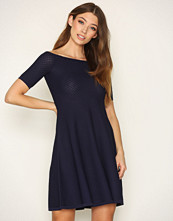Michael Kors Navy Off Shoulder Dress