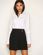 New Look Black Wrap Front D Ring Mini Skirt