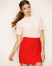 New Look Red Wrap Front D Ring Mini Skirt