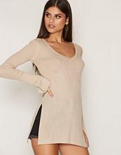 NLY Trend Beige Side Split V-Knit